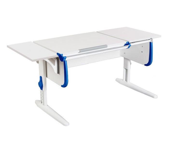 Парта Дэми СУТ-25К White Double Белый СинийПарты и столы<br><br>Цвет материала: Белый; Цвет каркаса: Белый; Цвет: Синий; Бренд: Дэми; Ширина (см): 145; Глубина (см): 55; Высота (см): 53-81,5;