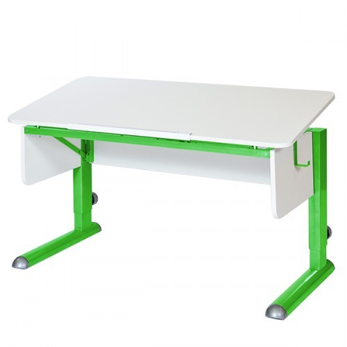 Парта Астек Моно-2 Белый ЗеленыйПарты и столы<br><br>Цвет материала: Белый; Цвет каркаса: Зеленый; Бренд: Астек; Ширина (см): 115; Глубина (см): 58; Высота (см): 53-78;