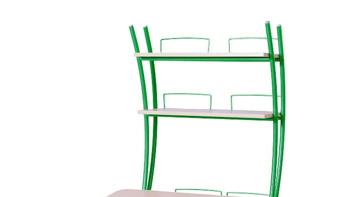 Надстройка Астек на парту Колибри / Юниор Береза ЗеленыйТумбы, стеллажи<br><br>Цвет материала: Береза; Цвет каркаса: Зеленый; Бренд: Астек; Ширина (см): 80; Глубина (см): 25; Высота (см): 98;
