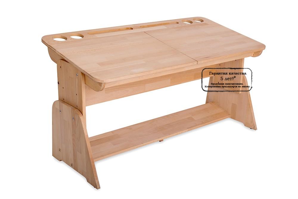 Парта Школярик с двумя пеналами С-412 (120 см)Парты и столы<br><br>Бренд: Школярик; Ширина (см): 120; Глубина (см): 58; Высота (см): 46-64;