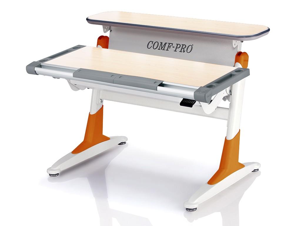 Стол Comf-Pro TH333 Coho (Кохо) Дуб беленый ОранжевыйПарты и столы<br><br>Цвет материала: Дуб беленый; Цвет каркаса: Белый; Цвет: Оранжевый; Бренд: Comf-Pro; Ширина (см): 106; Глубина (см): 73; Высота (см): 53-80;