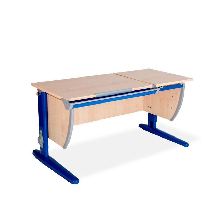 Парта Дэми СУТ-17 Клен СинийПарты и столы<br><br>Цвет материала: Клен; Цвет каркаса: Синий; Бренд: Дэми; Ширина (см): 120; Глубина (см): 55; Высота (см): 53-81,5;