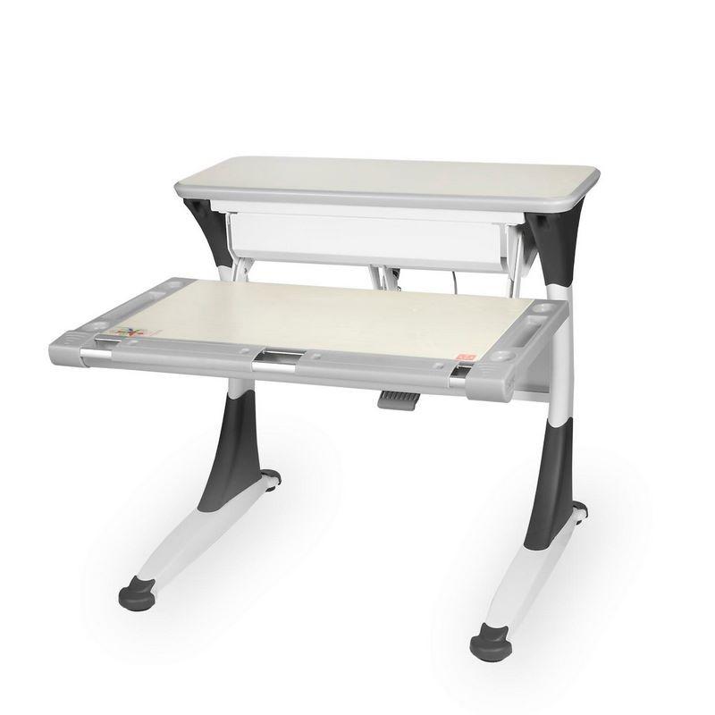 Стол Comf-Pro M1 Mini Harvard Дуб беленый Белый СерыйПарты и столы<br><br>Цвет материала: Дуб беленый; Цвет каркаса: Белый; Цвет: Серый; Бренд: Comf-Pro; Ширина (см): 83; Глубина (см): 83; Высота (см): 46-92;