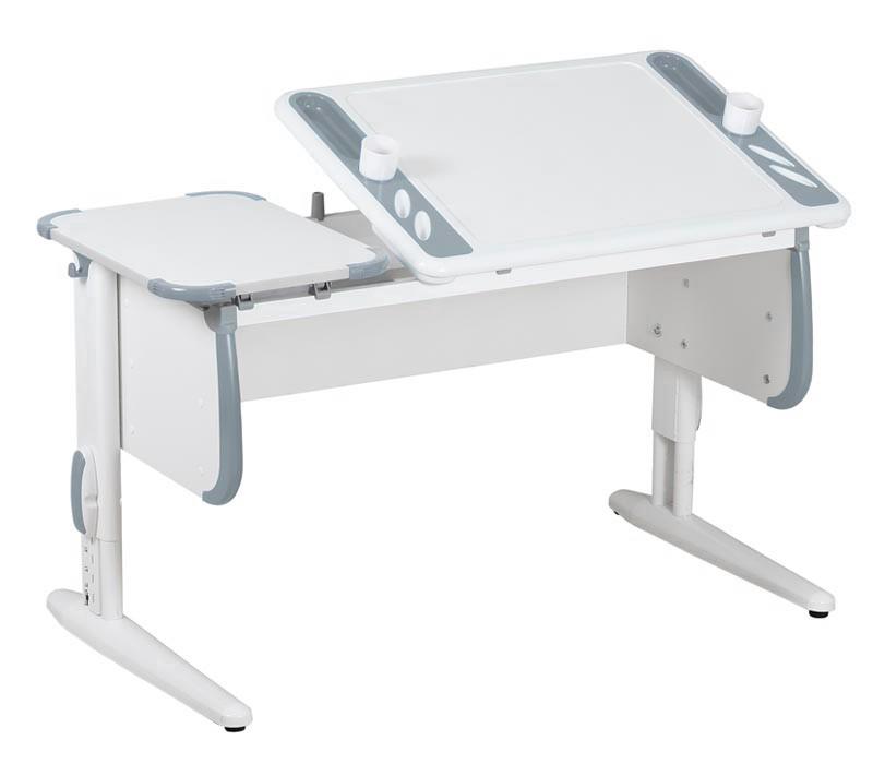 Парта Дэми White-Techno Maxi СУТ-31 Белый СерыйПарты и столы<br><br>Цвет материала: Белый; Цвет: Серый; Бренд: Дэми; Ширина (см): 120; Глубина (см): 55; Высота (см): 53-81,5;