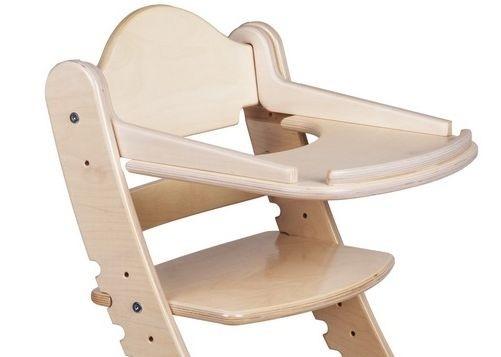"""Столик для детского растущего стула """"Два Кота"""" Беленый дуб"""