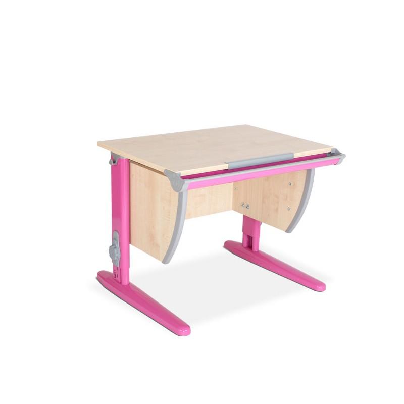 Парта Дэми СУТ-14 Клен РозовыйПарты и столы<br><br>Цвет материала: Клен; Цвет каркаса: Розовый; Бренд: Дэми; Ширина (см): 75; Глубина (см): 55; Высота (см): 53-81,5;