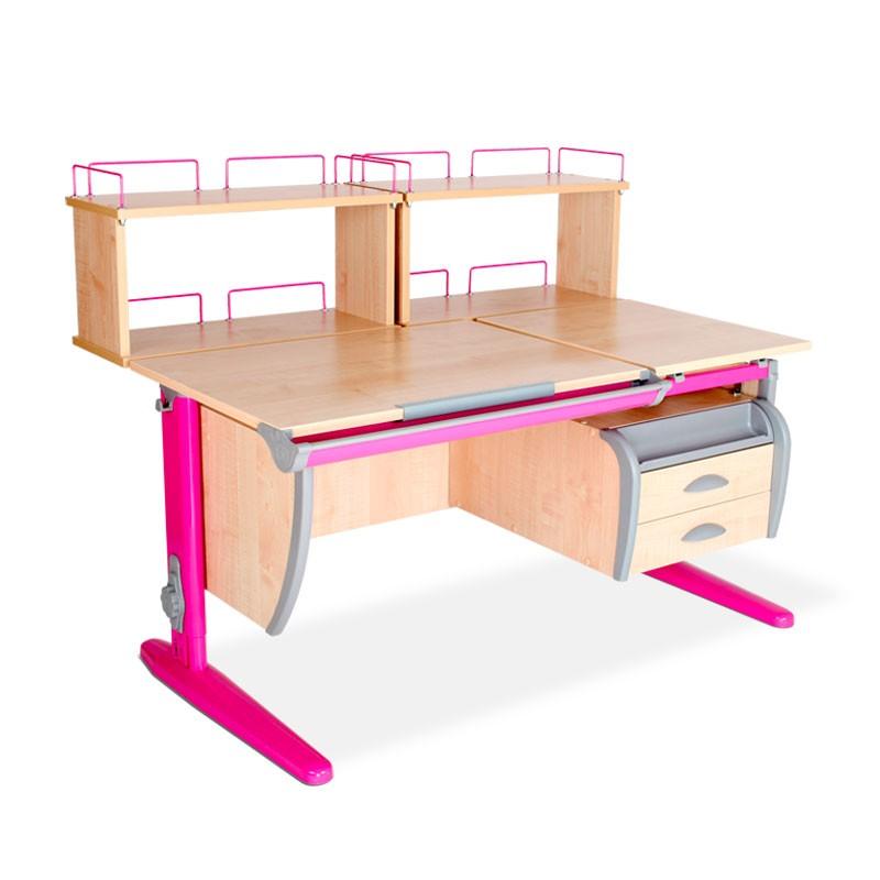 Парта Дэми СУТ-17-04Д2 Клен РозовыйПарты и столы<br><br>Цвет материала: Клен; Цвет каркаса: Розовый; Бренд: Дэми; Ширина (см): 120; Глубина (см): 80; Высота (см): 53-81,5;