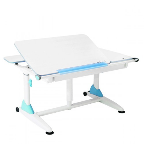 Парта TCT Nanotec Эргономик G6+S Белый Белый ГолубойПарты и столы<br><br>Цвет материала: Белый; Цвет каркаса: Белый; Цвет: Голубой; Бренд: TCT Nanotec; Ширина (см): 117; Глубина (см): 75; Высота (см): 56 - 83;