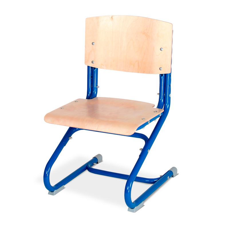 Растущий стул Дэми СУТ.02-01 фанера Клен СинийСтулья и кресла<br><br>Цвет материала: Клен; Цвет каркаса: Синий; Бренд: Дэми;