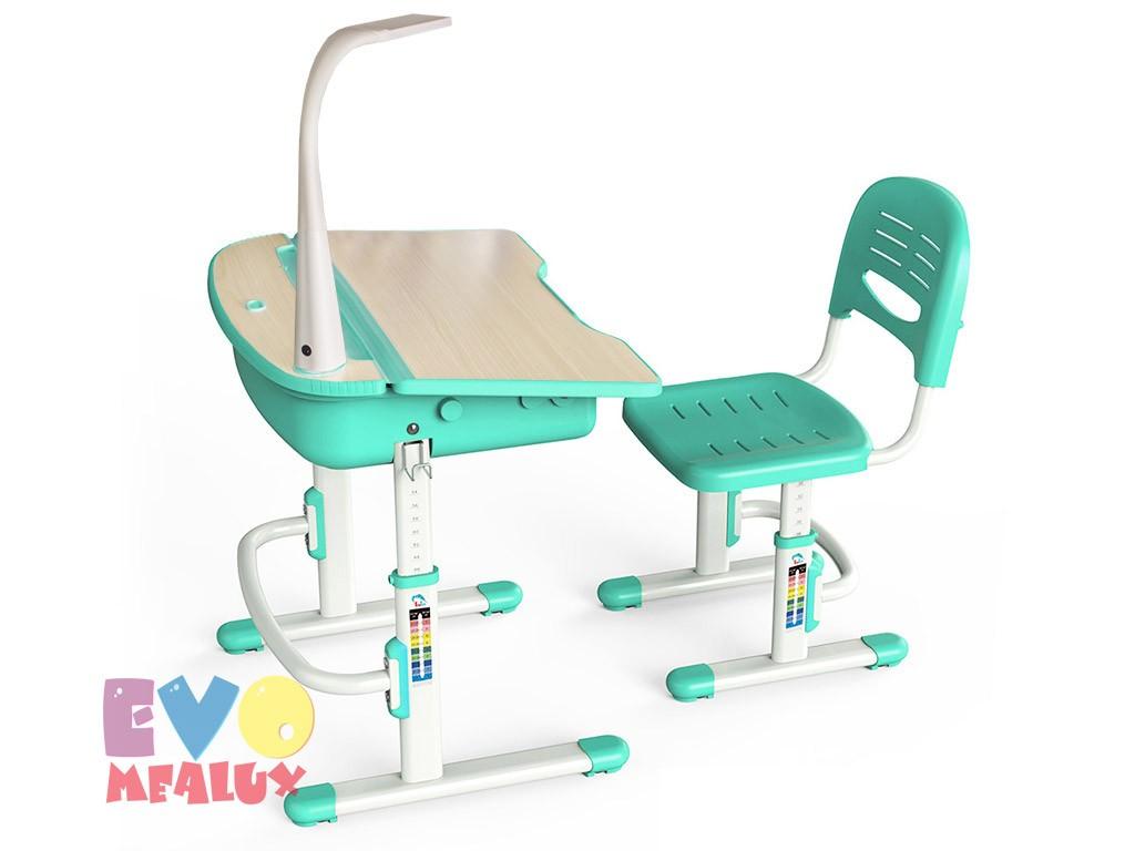 Купить Комплект парта и стул Mealux EVO-02 с лампой в интернет магазине. Цены, характеристики, фото, отзывы, обзоры