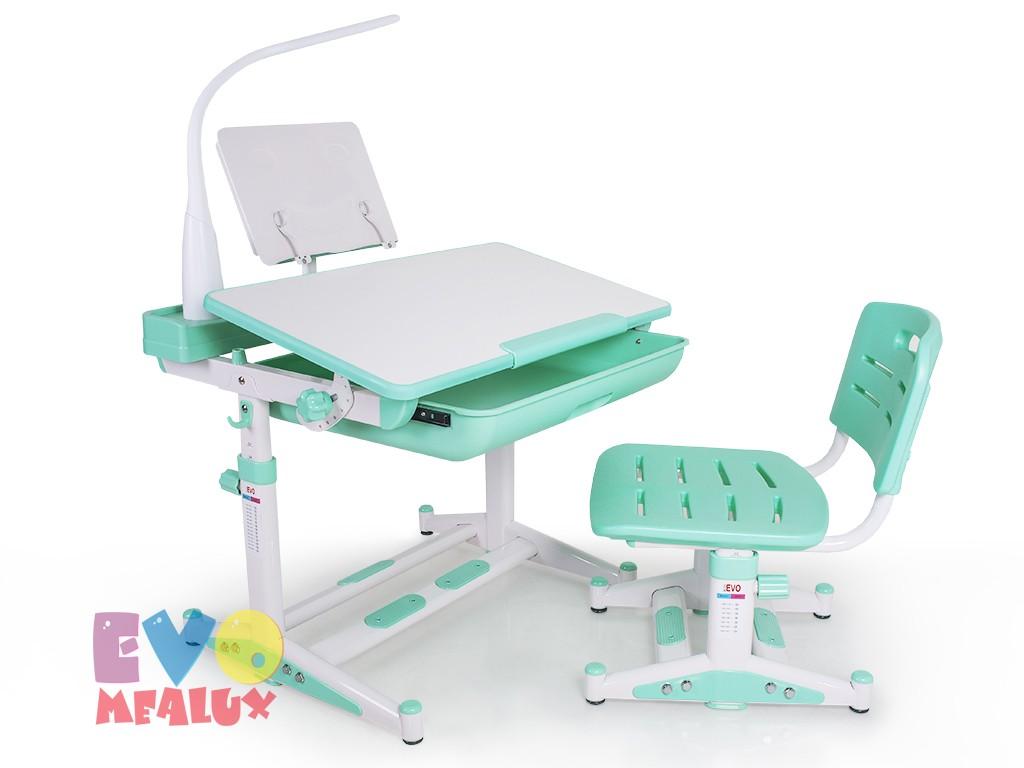 Купить Комплект парта и стул Mealux EVO-04 New с лампой в интернет магазине. Цены, характеристики, фото, отзывы, обзоры