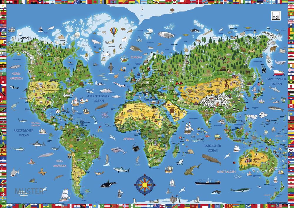 Купить Накладка на стол Moll Карта Мира в интернет магазине. Цены, характеристики, фото, отзывы, обзоры